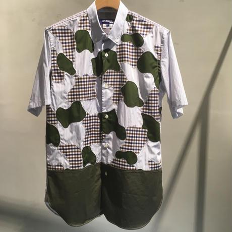 【在庫有・要問合せ】JYUNYA WATANABE MAN COMME des GARCONS パッチワークシャツ
