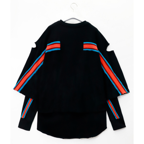 FACETASM    LAYERED LAYERED RIB SWEAT SHIRT