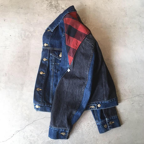 CHECK  DENIM  JACKT size2