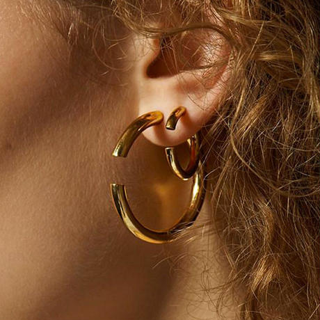 Disrupted 22 Earring gold