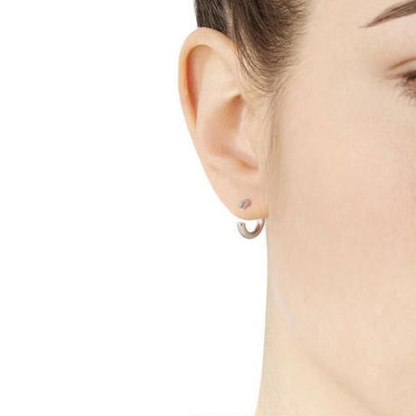 Disrupted 14 Earring silver