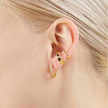 MARIA BLACK  Ripples Ear Cuff  Yellow Gold