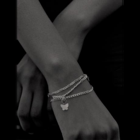 Gemma (S/M) Bracelet Silver