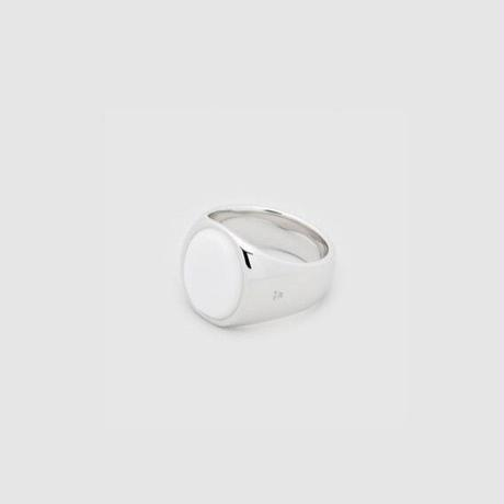 TOM WOOD Oval White Agate