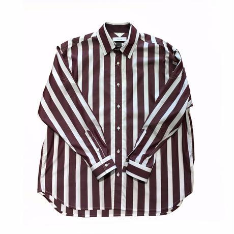 FACETASM ブロックストライプビックシャツ サイズ00  エンジ