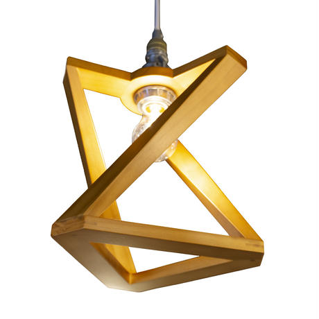 AMPERSAND WOODEN SHADE LAMP  TRI STD
