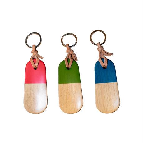 <小型>Wooden Shoehorn Keychain