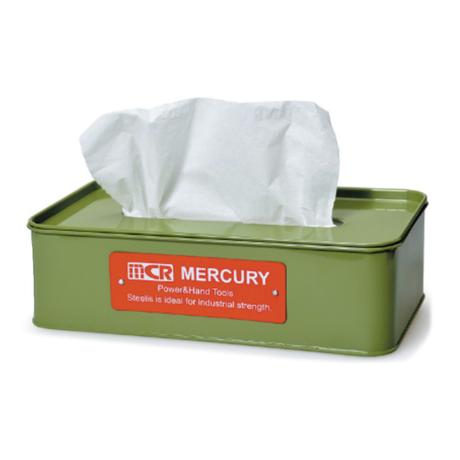 <小型>Tin Tissue Box