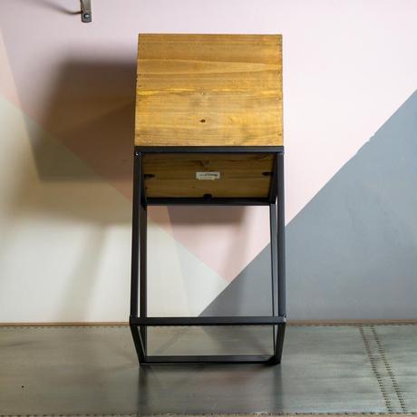 Iron Stand Wood Box L