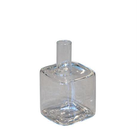 <小型>Hunt9 Heinz Flower Vase -small cube clear-