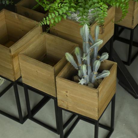 Brown. Fake plants