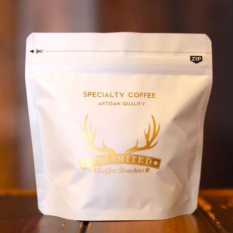UCRオリジナルチャック付きコーヒーバッグ100g用(ホワイト/ ブラック)