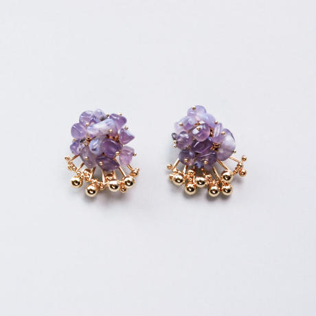 <CIITA>Aria Earrings - PURPLE CHALCEDONY