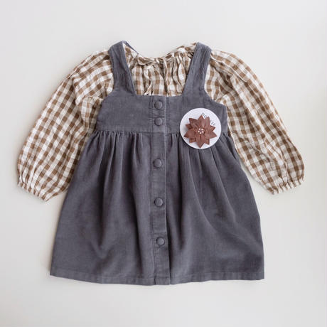 Little Cotton Clothes Embroidered Olive blouse(6-12M,12-18M,18-24M,2-3Y,3-4Y,4-5Y,5-6Y)