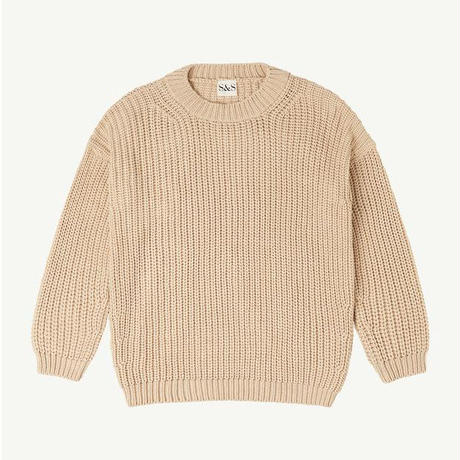 SUMMER & STORM womens chunky cotton pullover(S/M)