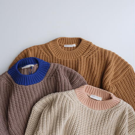 SUMMER & STORM chunky cotton pullover(全3色)