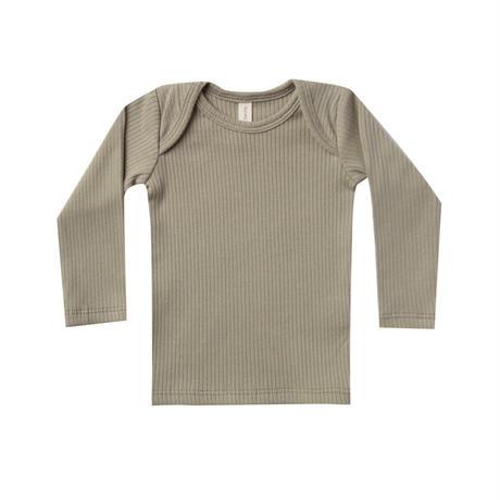 QUINCY MAE Ribbed Longsleeve Lap Tee(全2色/6-12m,18-24m)