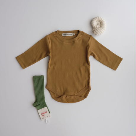 SUMMER & STORM ribbed body long-sleeve(全2色/0-3M)