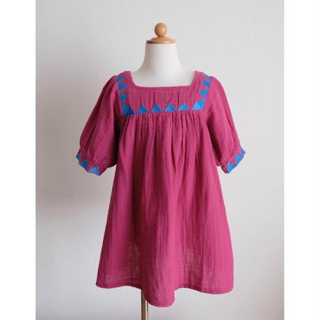Coco Au Lait bambula embroidered baby dress(全2色/12M,18M,2Y)