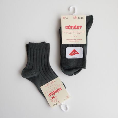 Condor Rib Short Socks(全7色/4(14.5-16cm),6(17-19.5cm),8(20.5-22.5cm))