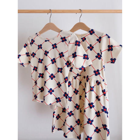 mini rodini Flower check aop ballet tee(80/86,92/98,104/110,116/122,128/134)