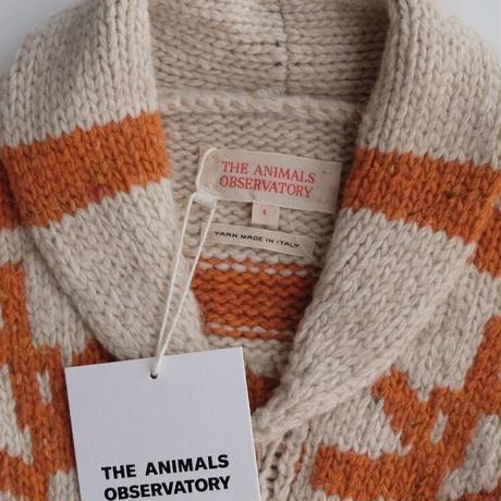 THE ANIMALS OBSERVATORY RAVEN KIDS CARDIGAN(4Y,6Y,8Y)