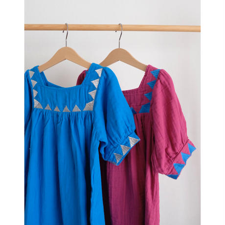 Coco Au Lait bambula embroidered dress(全2色/4Y,6Y,8Y)