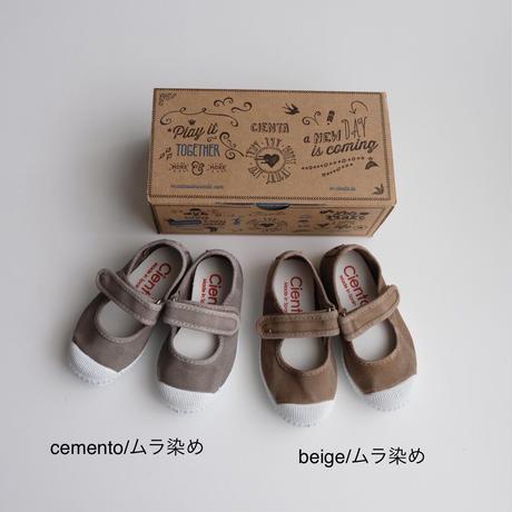 Cienta VELCRO ONE STRAP SHOES ムラ染め(全2色/21(12.5cm)~32(20cm))