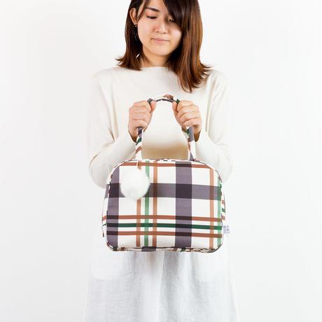 ボストンバッグ 弁慶格子(墨・茶)
