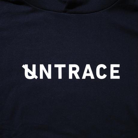 UNTRACE BIG U BACK PRINT HOODIE  (Navy×White)