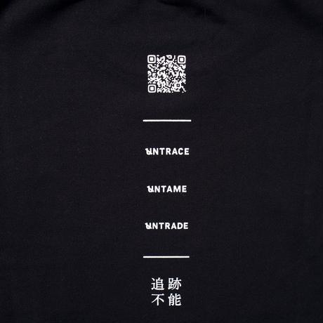 UNTRACE BACK QR PRINT SWEAT (Black×White)
