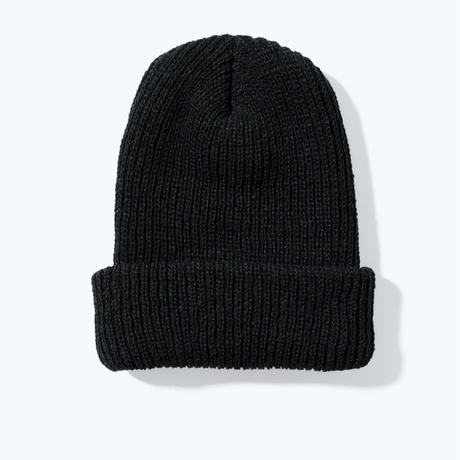 UNTRACE LOGO EMBROIDERED BEANIE (Black×Silver)