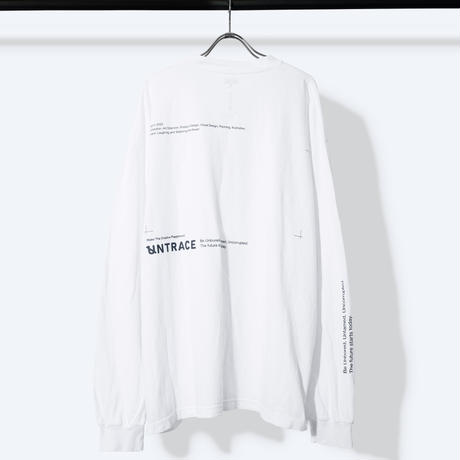 UNTRACE THE BEAUTIFUL CHAOS L/S  (White×Navy)