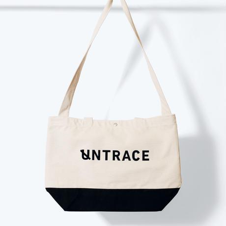 UNTRACE 2WAY TOTE   (Natural×Black×Black)