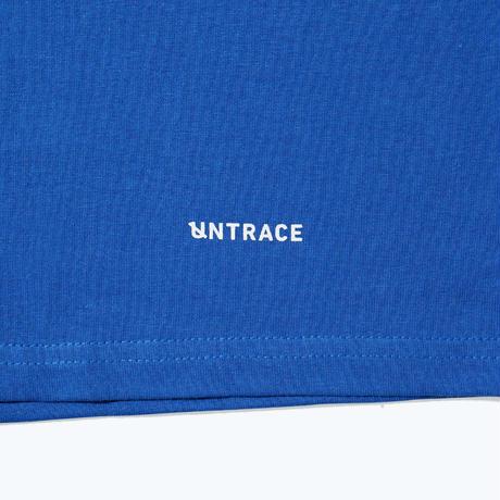 UNTRACE SHOULDER WORDS S/S (Blue×White)