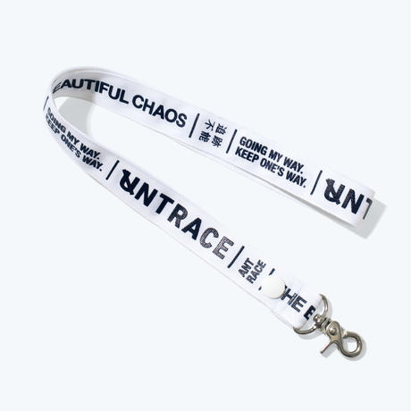 UNTRACE THE BEAUTIFUL CHAOS NECK LANYARD  (White×Navy)