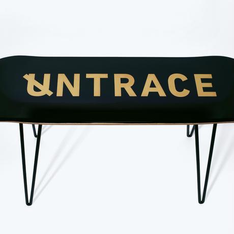 UNTRACE DECK CHAIR (Black×Gold)