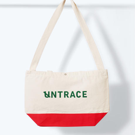 UNTRACE 2WAY TOTE   (Natural×Red×Green)