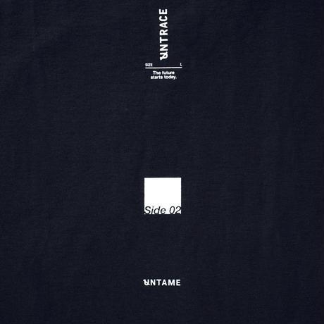UNTRACE S/S (Dark Navy×White)