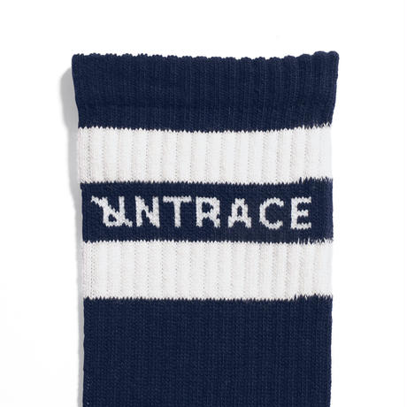 UNTRACE STRIPE SOCKS (Navy×White)