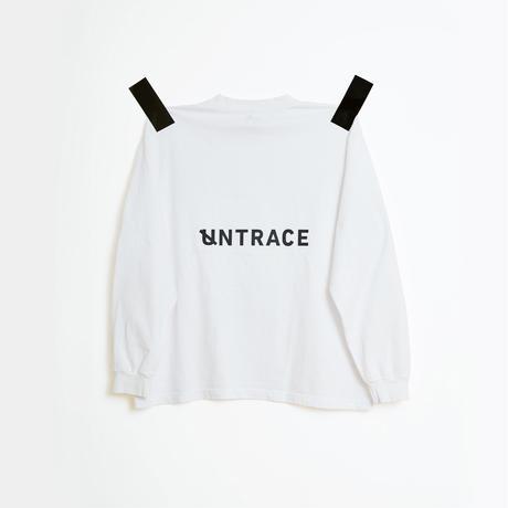 UNTRACE L/S (White×Dark Navy)