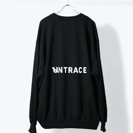 UNTRACE BACK LOGO PRINT SWEAT (Black×White)