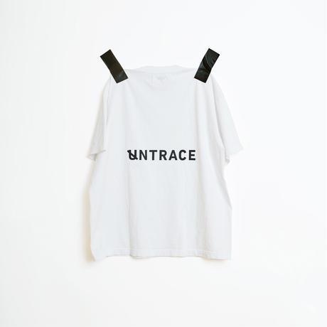 UNTRACE S/S (White×Dark Navy)