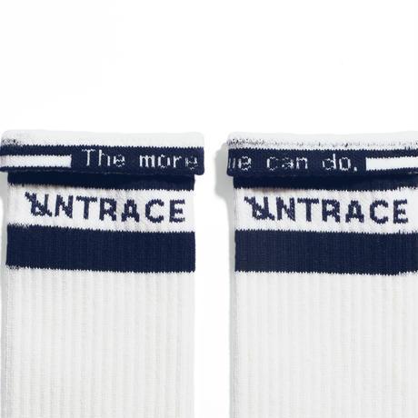 UNTRACE STRIPE SOCKS (Off White×Navy)