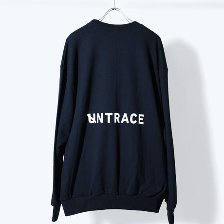 UNTRACE BACK LOGO PRINT SWEAT (Navy×White)