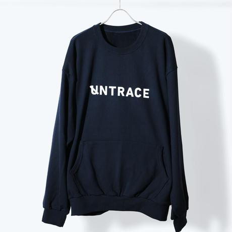 UNTRACE BACK QR PRINT SWEAT (Navy×White)