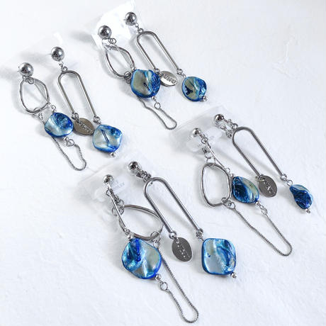 vine (turquoise blue×silver)