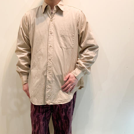 1960's US.ARMY Poplin L/S Shirt