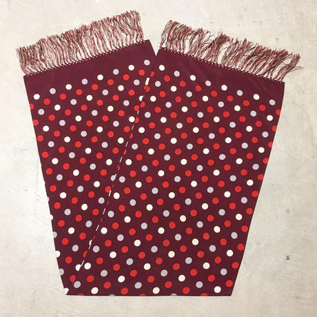 1950's Unknown Mulch Dots Rayon Scarf