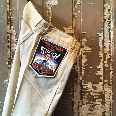 1970's RODEO RIDER Stretch Silm Tapered Pants Deadstock